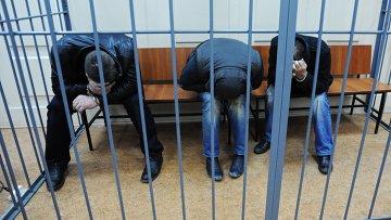 Подозреваемые в убийстве Бориса Немцова в Басманном суде города Москвы. Архивное фото