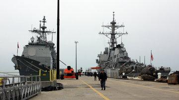 Эскадра кораблей ВМС США. Архивное фото