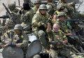 Украинские военные в Константиновке