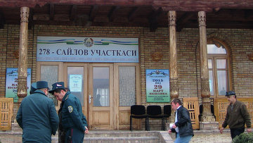 Голосование на выборах президента Узбекистана
