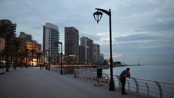 Вид ливанского города Бейрут. Архивное фото
