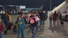 Ил-62 доставил в Москву эвакуированных из Йемена. Кадры с аэродрома