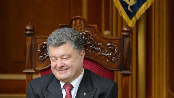 Президент Украины Петр Порошенко на внеочередном заседании Верховной Рады. Архивное фото