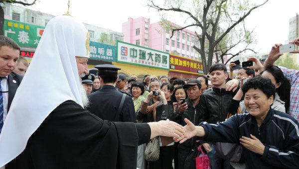 Патриарх Кирилл, совершающий визит в Китай, прибыл в Харбин
