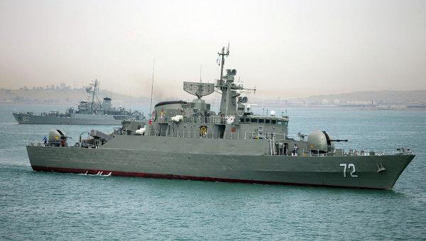 Военные корабли перед отправлением из вод Ирана. 7 апреля 2015