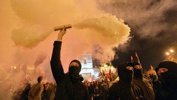 Мероприятия в честь годовщины создания УПА на Украине, архивное фото