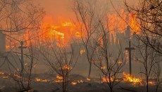 Пожар в Хакасии. Архивное фото