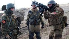 Ополченцы Донецкой народной республики (ДНР) во время учений