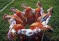 Артисты танцуют в национальных украинских костюмах
