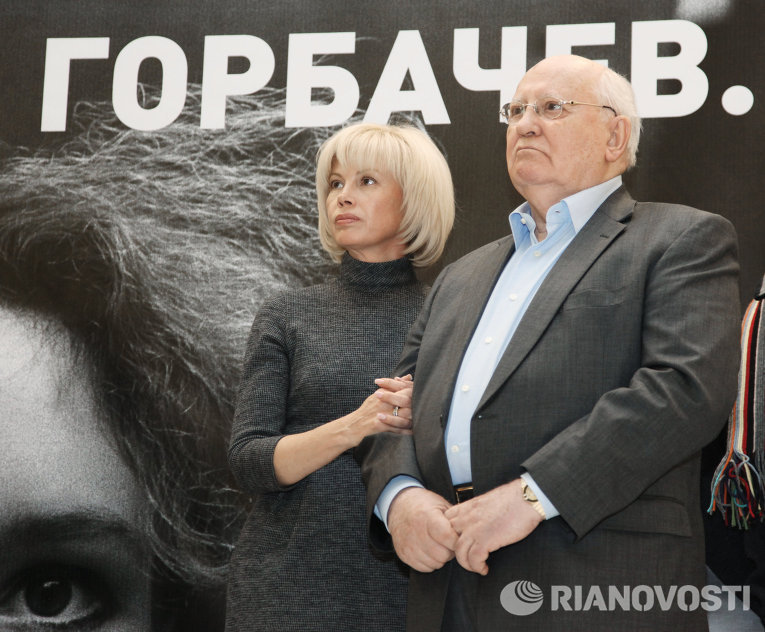 Открытие выставки Михаил Горбачев. Perestroika