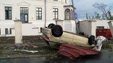 Последствия шторма на севере Германии