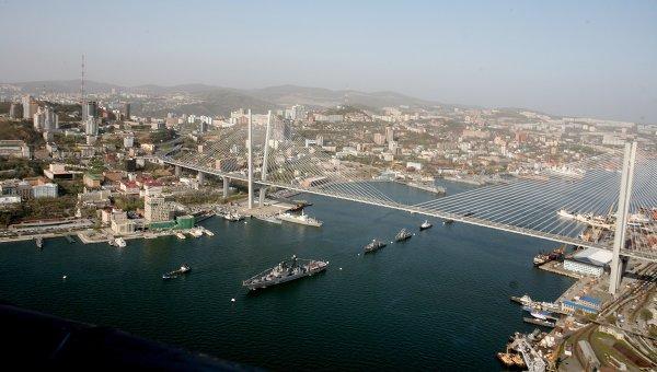 Корабли Тихоокеанского флота заняли свои места в парадном строю в бухте Золотой Рог во Владивостоке. Архивное фото