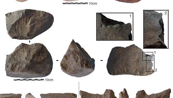 Часть из орудий труда, найденных у озера Туркана
