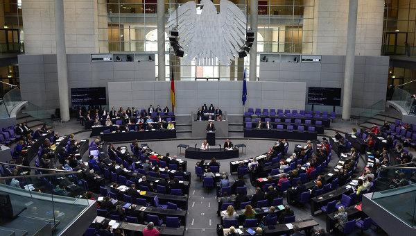 Заседание нижней палаты парламента Германии, посвященное предстоящему саммиту Восточное партнерство в Риге