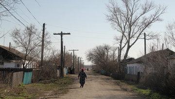 Село Калачи Акмолинской области Казахстана, жители которой страдают от загадочной «сонной болезни». Архивное фото