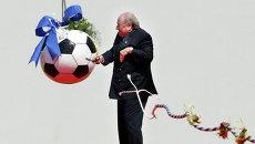 Президент ФИФА Йозеф Блаттер на церемонии начала строительства штаб-квартиры ФИФА в Цюрихе