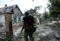 """Член украинского батальона """"Киев-1"""" во время боя под Марьинкой"""
