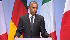 Это вопрос мистера Путина – Обама о сохранении санкций в отношении РФ