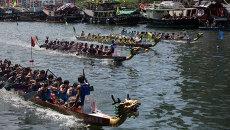 Фестиваль лодок-драконов в Китае. Архивное фото