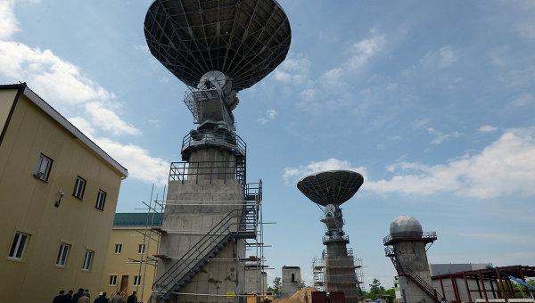Антенна на космодроме Восточный Амурской области, архивное фото