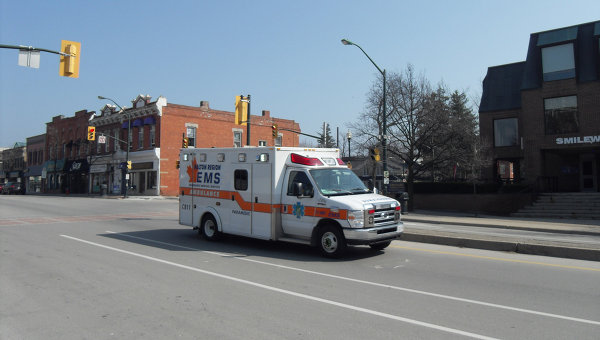 Карета скорой помощи в Канаде. Архивное фото.