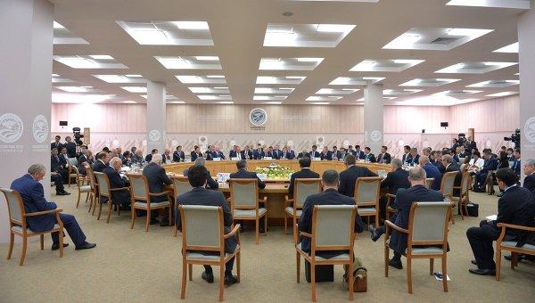 Заседание Совета глав государств-членов ШОС. Архивное фото