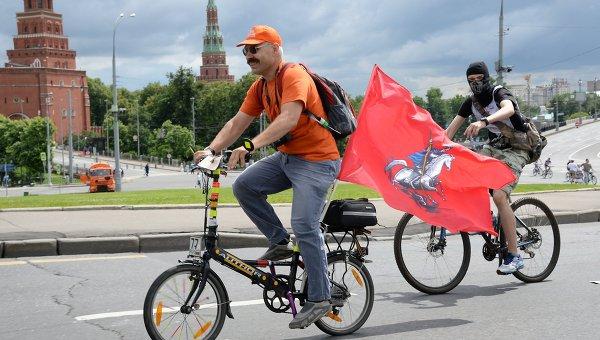 Благотворительный велозаезд пройдет в российской столице врамках празднования Дня города