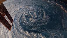 Фотография предзимнего шторма у юго-западных берегов Австралии, сделанная с борта МКС