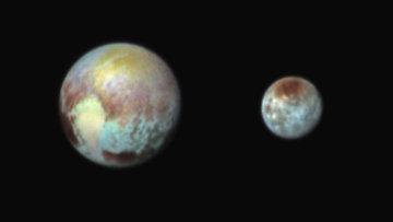 Снимки, полученные прибором Ralph на борту зонда New Horizons