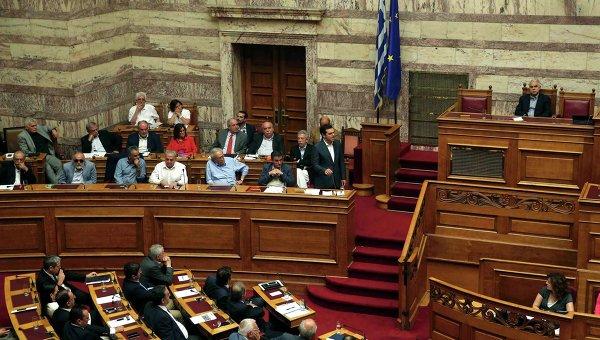 Заседание парламента Греции. 16 июля 2015