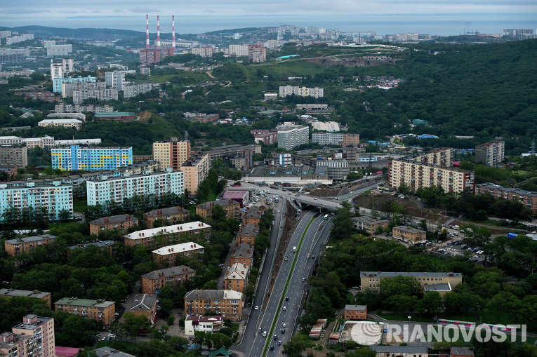 Вид на город Владивосток. Архивное фото