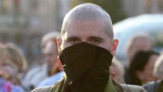 Участник Народного вече организации Правый сектор в Киеве