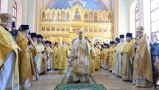 Освящение храма князя Владимира в Московском епархиальном доме