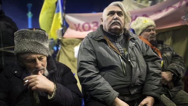 Участники акции сторонников евроинтеграции Украины в Киеве. Архивное фото