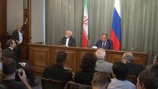 Лавров и Зариф обозначили позиции России и Ирана по кризису в Сирии