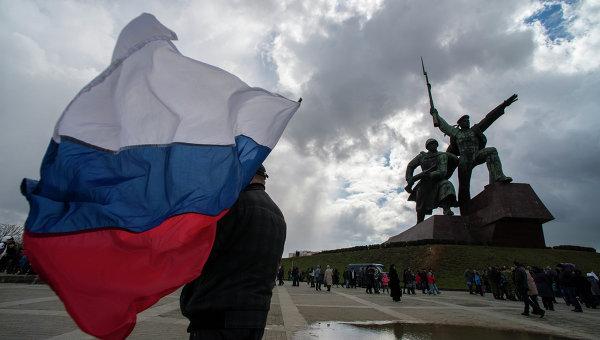Участник праздничных мероприятий в Севастополе, посвященных годовщине Крымской весны
