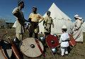 Участники девятого ежегодного фестиваля исторических клубов Воиново поле
