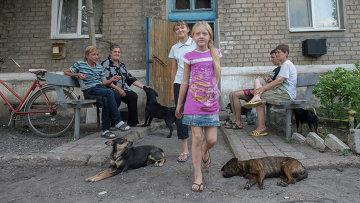Ситуация в поселке Спартак Донецкой области. Архивное фото