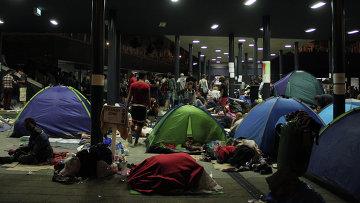 Беженцы с Ближнего Востока в Будапеште. Архивное фото