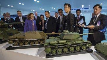 Открытие 10-ой международной выставки Russia arms expo