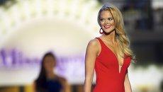 Участница конкурса красоты Мисс Америка 2016, проходящего в Атлантик-Сити