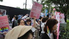 Дайте миру шанс и Матери против войны: антимилитаристский митинг в Токио