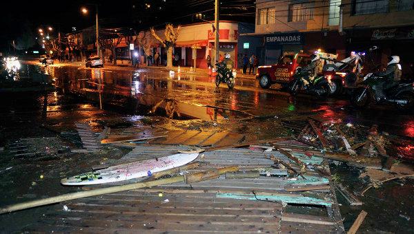 Последствия землетрясения в Чили 16 сентября 2015