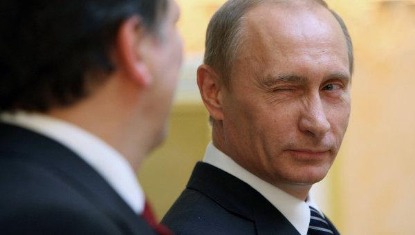 Пресс-конференция премьер-министра РФ Владимира Путина и Жозе Мануэла Баррозу