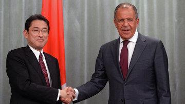 Встреча министров иностранных дел РФ и Японии С.Лаврова и Ф.Кисиды. Архивное фото
