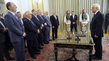 Церемония принятия присяги нового правительства Греции