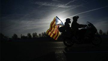 Акции в Барселоне в поддержку референдума о независимости Каталонии. Архив