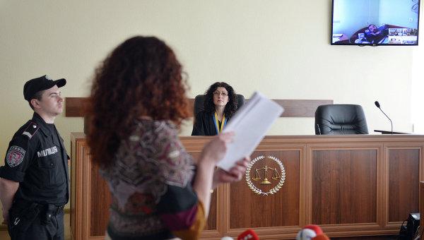 Слушания в районном суде Киева дела Ерофеева и Александрова. Архивное фото