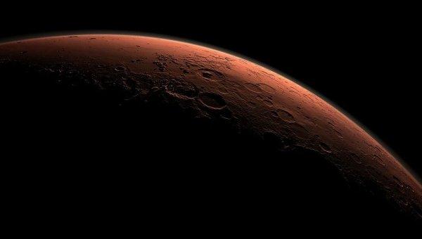 Смодулированное изображение поверхности Марса. Архивное фото