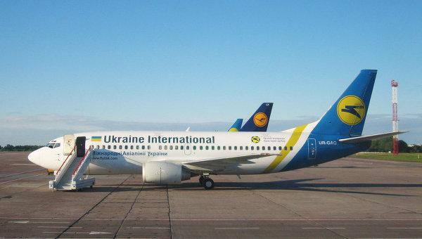 Самолеты Международных авиалиний Украины . Архивное фото